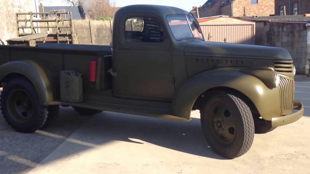 1941 Chevrolet Pickup 1 1/2 ton dually - YouTube