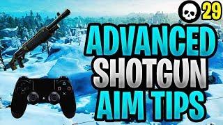 ADVANCED Controller Fortnite Shotgun Aim Tutorial! (PS4/Xbox Fortnite Shotgun Tips)