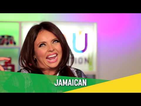 Little Mix - Jesy Nelson - Jamaican accent challenge in SLOW MO!