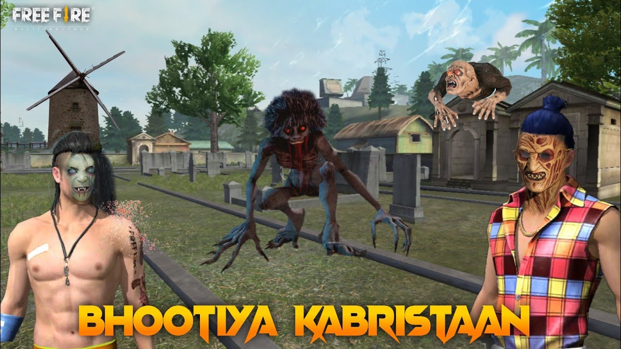 Bhootiya Kabristaan [ भूतिया कब्रिस्तान ] Free fire New Horror Story in Hindi || Free fire Story