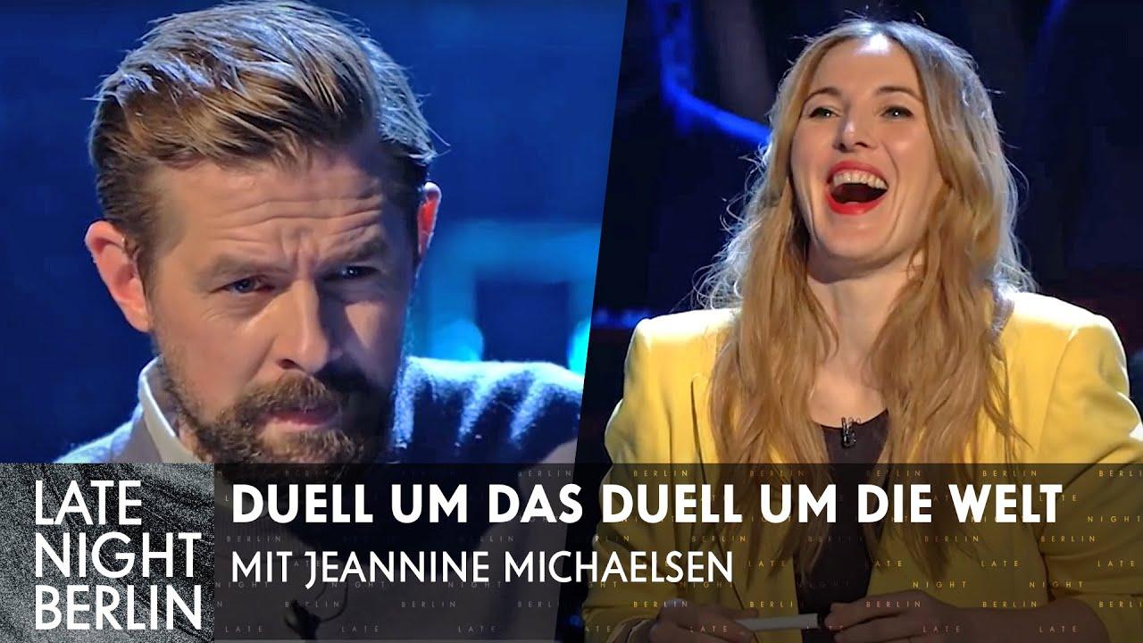 Das Duell um das Duell um die Welt mit Jeannine Michaelsen   Late Night Berlin   ProSieben