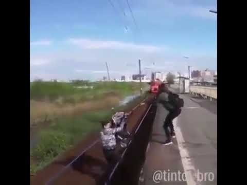 In Belguim saudi young man pick a baby from fast train rail sacrifice his life