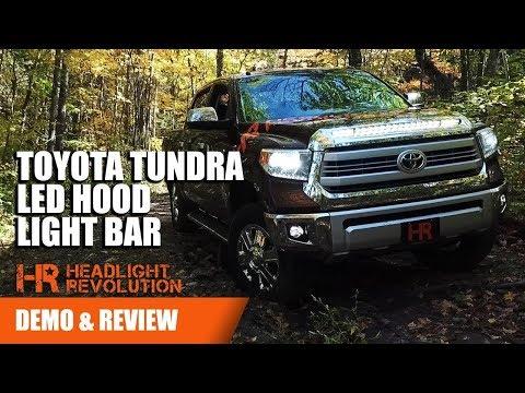 Toyota Tundra LED Hood Light Bar - NSV Knight Rider for 2014+ | Headlight Revolution