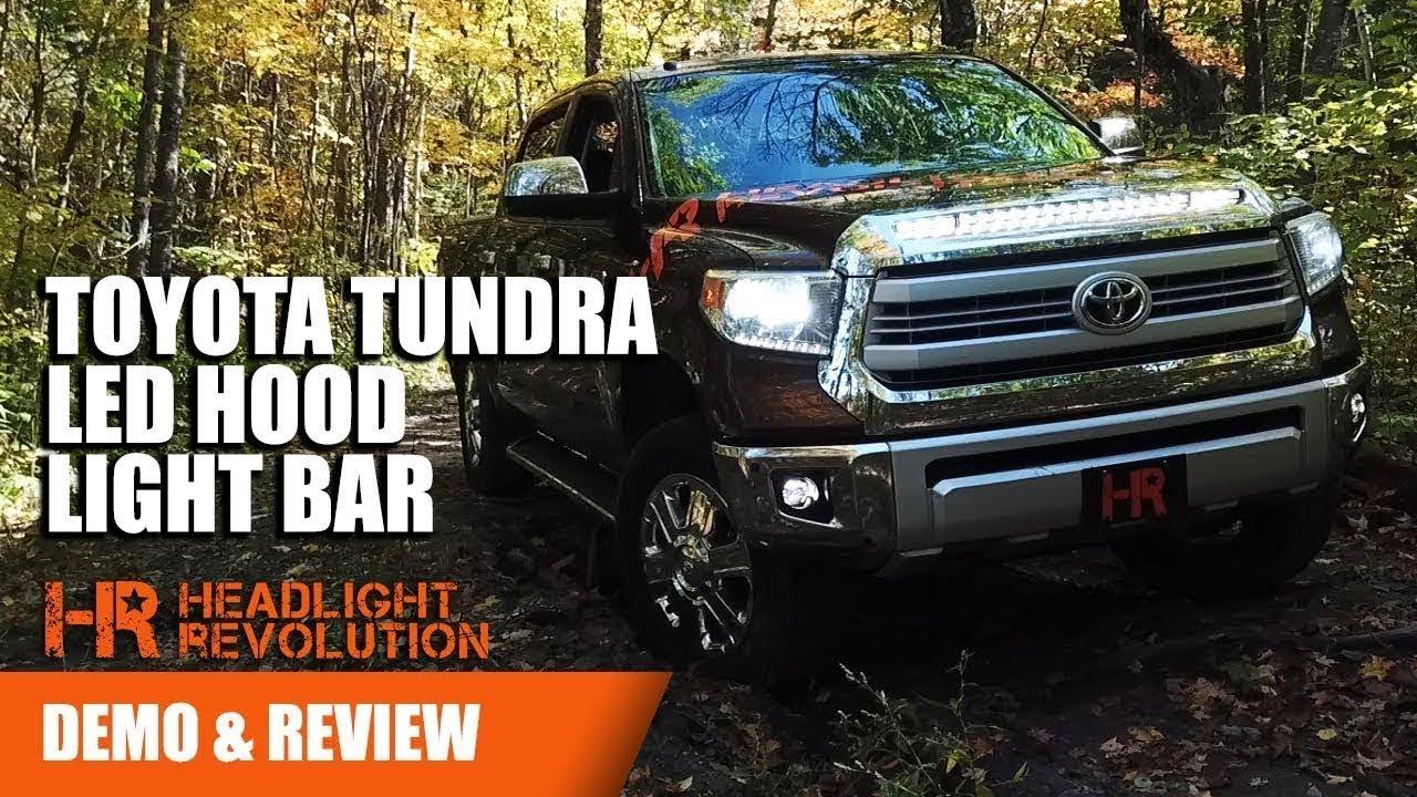 Toyota Tundra Led Hood Light Bar Nsv Knight Rider For