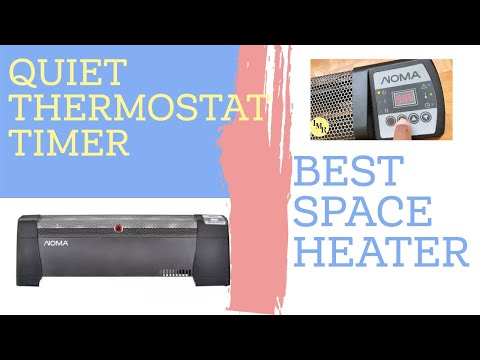 Best Space Heater with thermostat and timer-Noma digital baseboard heater
