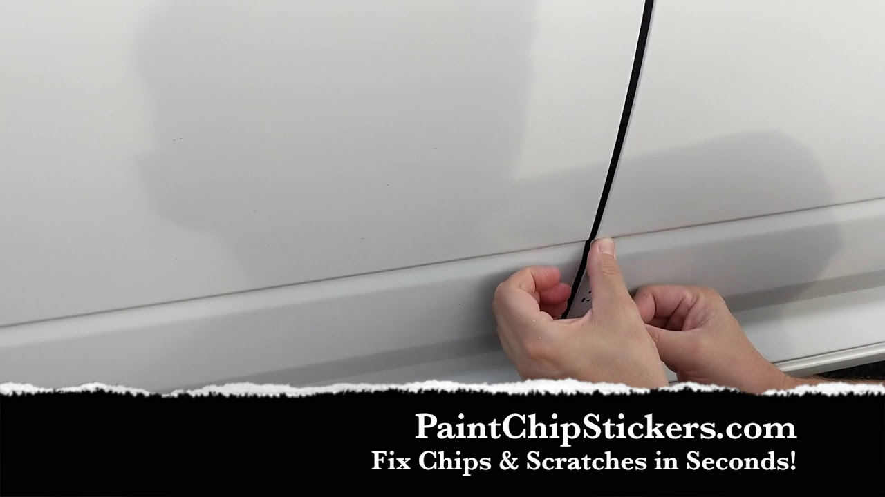 Paint chip stickers fix paint chips scratches in seconds paintchipstickers com dodge ram door