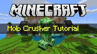 Minecraft Tutorial: Best Simple Mob Crusher Tutorial