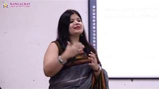 Lecture on Stress Management by Ms. Ruchi Dhody - Professor (Management) - Mangalmay Institutions