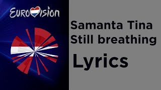 Samanta Tina - Still Breathing (Lyrics) Latvia Eurovision 2020