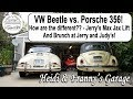 VW Beetle vs. Porsche 356! How are they different?? MaxJax Lift, And Brunch at Jerry and Judy?s!