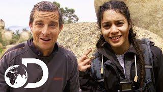 Vanessa Hudgens Kills and Eats A Rattlesnake! | Running Wild With Bear Grylls thumbnail