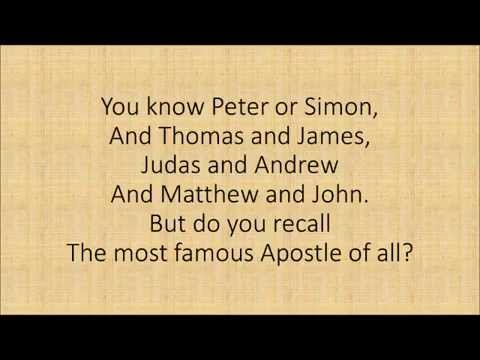 Reformed Theology FFAW - A children's song for the Apostle Paul  Calvinism