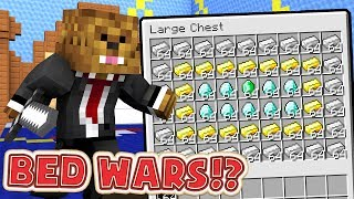 2 PRO BED WARS PLAYERS TAKE ON THE WORLD - Minecraft Bed Wars Minigame
