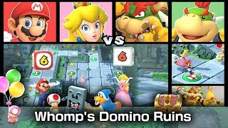 Super Mario Party Domino Ruins Treasure Hunt ◆ Mario and Peach vs. Bowser and Bowser Jr. #2