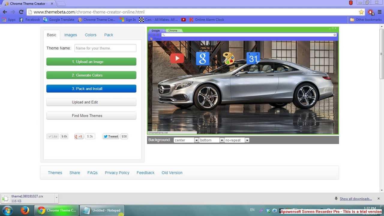 Google themes maker - Google Chrome Theme Maker
