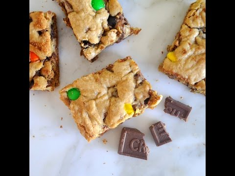 Chocolate Candy Cookie Bars Recipe By Cooking With Manuela