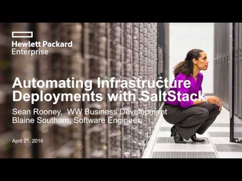 Automating Bare-Metal Infrastructure with SaltStack and HPE OneView