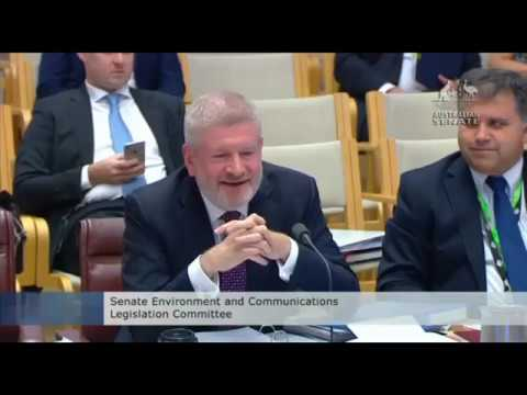 """You haven't been here very long,"" Mitch Fifield interrupts Kristina Keneally's question to ABC MD"
