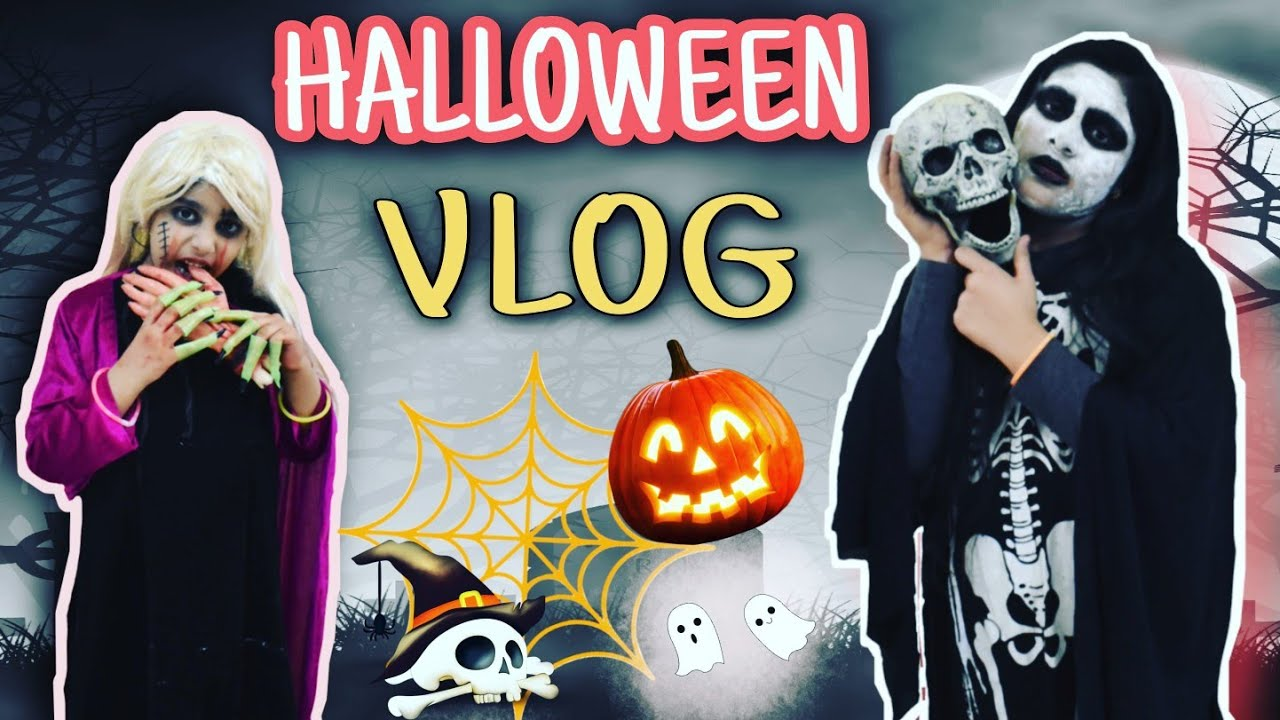 HALLOWEEN VLOG!! EASY DIY HALLOWEEN DECOR IDEAS!! INDIAN HALLOWEEN !! SIS VS SIS!!