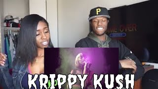 Bad Bunny x Nicki Minaj x Farruko Krippy Kush Remix Lyric Video ft. 21 Savage, Rvssian Reaction