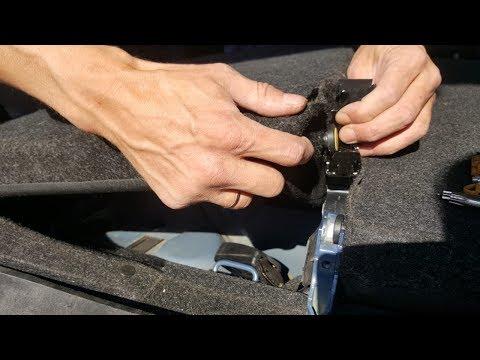 Как снять спинку заднего сидения Skoda Rapid