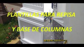 COMO HACER PLANTILLAS PARA MOLDURAS/REPISAS Y BASE DE CEMENTO