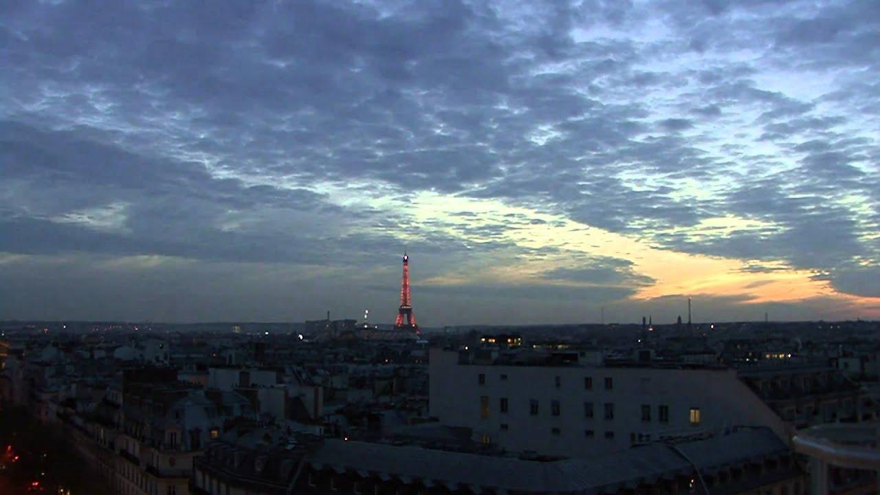 Préférence En HD : Coucher de soleil sur Paris et la tour Eiffel (novembre  JO87