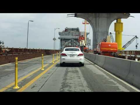 Bayonne Bridge northbound [Early 2016 Construction Update]