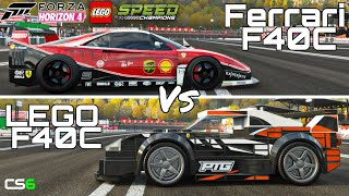 LEGO Ferrari F40C Vs Ferrari F40C - LEGO Speed Champions Forza Horizon 4