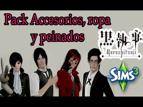 ♢sims 3 pack anime | pack accesorios, ropa y peinados
