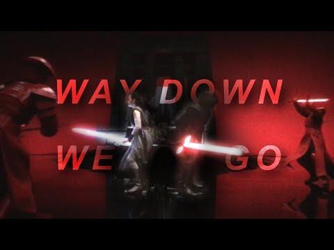 Reylo || Way Down We Go (star wars tribute) [+TLJ Spoilers]