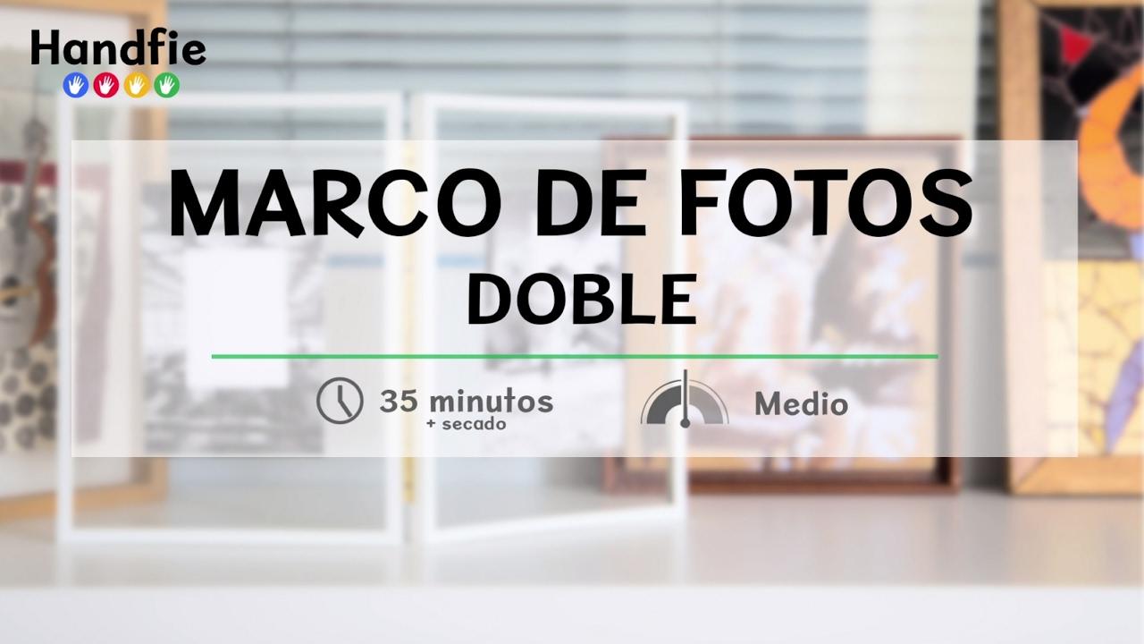 Cómo hacer un marco de fotos doble · Handfie DIY - YouTube