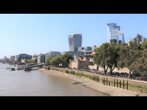 London  - The Thames River And Its Docks