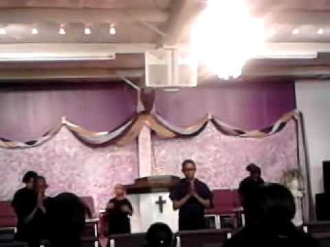 praise dancing @ Wings of Faith Ministries