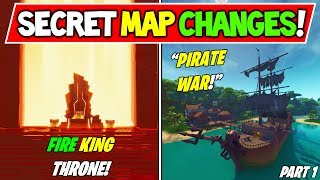 "TOUS LES CHANGEMENTS MAP DE FORTNITE FORTNITE ! - ""PIRATE WAR"" - ""Fire Throne"" (Saison 8 Storyline)"