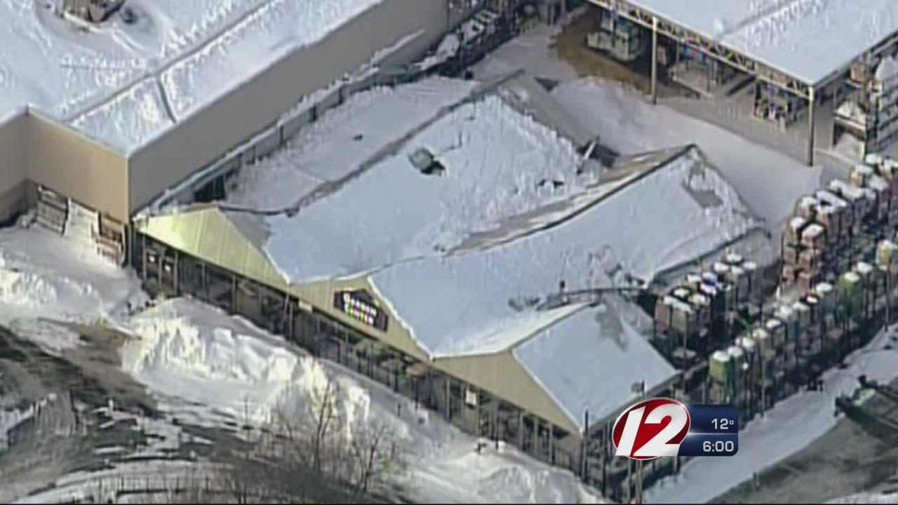 Garden Center Roof Collapses at Seekonk Lowes YouTube