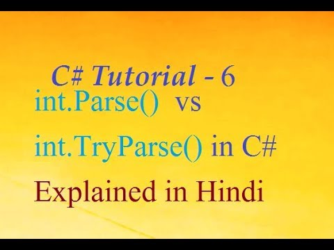 What is difference Between int.Parse() & int.TryParse() in C# Explained in Hindi