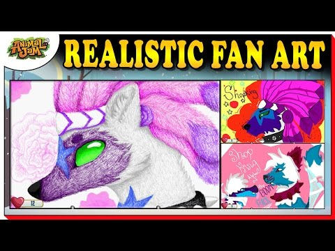 THE MOST REALISTIC FAN ART I HAVE SEEN + 100 NEW MASTERPIECES ON ANIMAL JAM