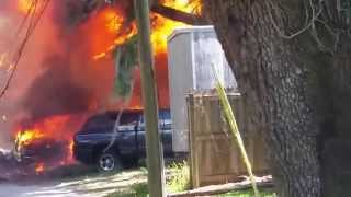 3 Story House fire in Safety Harbor FL