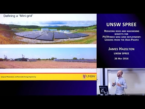 UNSW SPREE 201605-26 James Hazelton - Reducing risks and maximising benefits for PV hybrid mini-grid