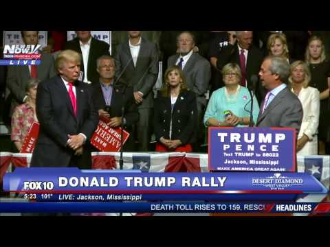 Donald Trump Invites Nigel Farage On Rally Stage FNN