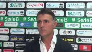 PRO VERCELLI - CATANIA conferenza stampa post-gara MAURIZIO PELLEGRINO