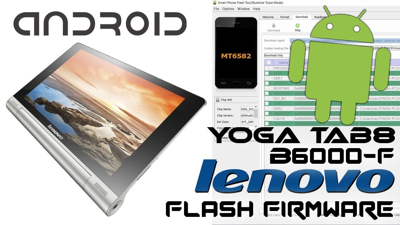 Lenovo Yoga TAB 8 B6000 Android tablet How to Flash Stock
