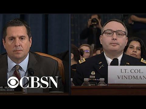 "Lt. Col. Vindman Responds To Nunes Addressing Him As ""Mr. Vindman"" In Exchange About Whistleblower"
