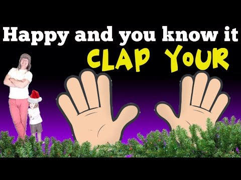 If You're Happy and You Know it Clap Your Hands Nursery Rhyme Christmas Special Song for Kids
