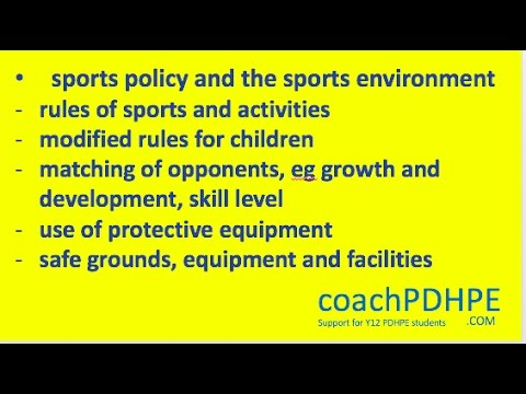pdhpe sports policy This chapter examines the process of managing rehabilitation from sporting  injury  procedures that follow will assist the achievement of these aims 19 334  pdhpe ap p  return-to-play policies and procedures vary with sports they  may.