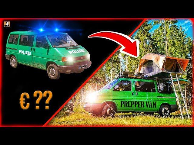 Survival Mattin VOM POLIZEI AUTO zum PREPPER NOTFALL VAN | Was kostet ein VW T4 Bus?