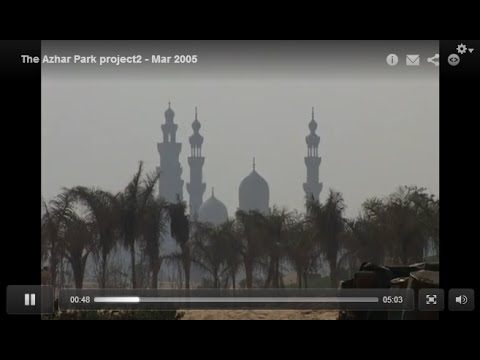 The Al-Azhar Park project, Cairo, Egypt