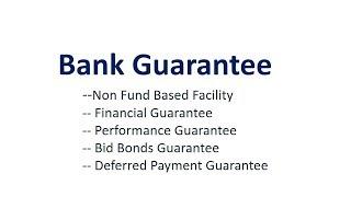 bank guarantees types  bank guarantees jaiib   deferred payment guarantee
