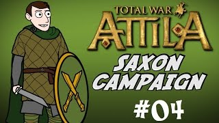 Total War: Attila - Saxon Campaign Gameplay - Part 4 - Defeating a Rebellion!